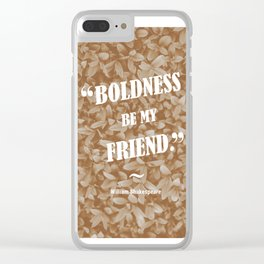 Boldness Be My Friend - Sepia Clear iPhone Case