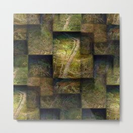 Forest on boxes Metal Print