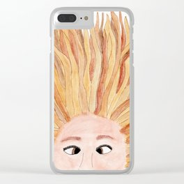 Autumn in Her Hair Clear iPhone Case