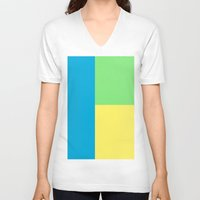 pantone V-neck T-shirts featuring Pantone colour by StevenARTify