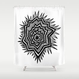 Spikey Star Shower Curtain