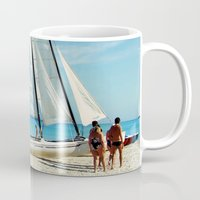 cuba Mugs featuring Cuba Beach by Parrish