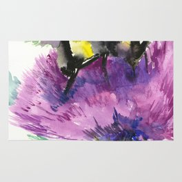 Bumblebee and Thistle Flower, Rug