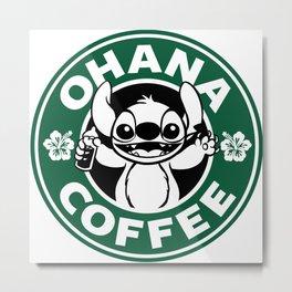 Ohana Coffee Metal Print