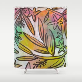 Bright Colorful Jungle Canopy Shower Curtain