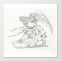 anime Canvas Prints featuring Anime by Peggy Murphy