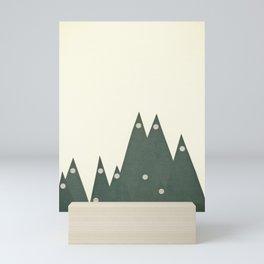 Moonlit Peaks Mini Art Print