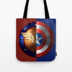 Wonder Woman/Captain America Tote Bag