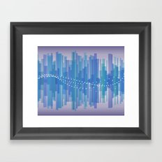 Blasting Waves Framed Art Print