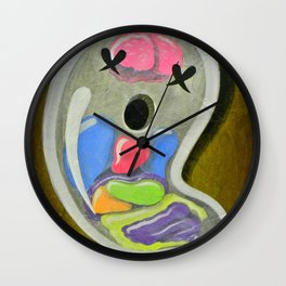 """Mr. Ghostee(the living ghost)"" Wall Clock"