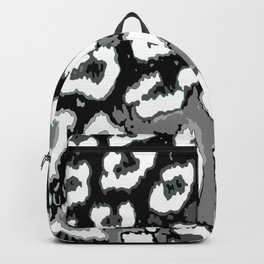 Black and White Leopard Spots Backpack