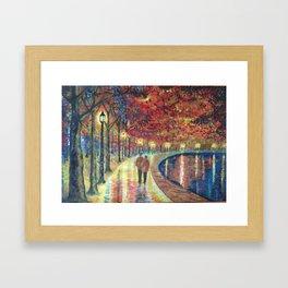 Evening love Framed Art Print