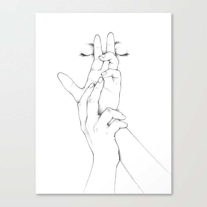 Untitled Hands No. 10 Canvas Print