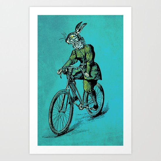 The Bicycle Bunny Art Print