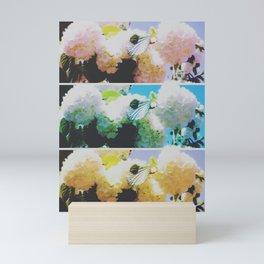 Faded Snowball Branch Collage (II) Mini Art Print