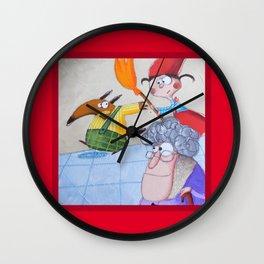 Cappuccetto Rosso -3 Wall Clock