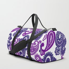 Fun Purple Paisley Duffle Bag