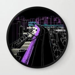 Tríptico Urbano Tres Wall Clock