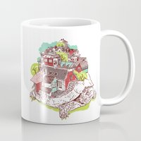 the neighbourhood Mugs featuring Tur-Town by Yoshi Andrian