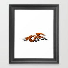 Graffiti Fox Framed Art Print