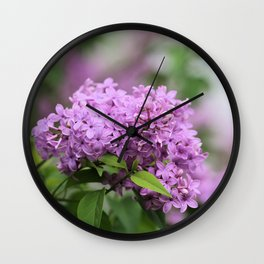 Lilac Bouquets Wall Clock