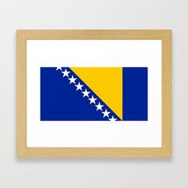 Bosnia And Herzegovina Flag Framed Art Print