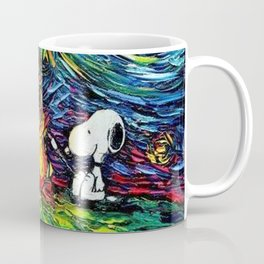 Snoopy Meets starry night Coffee Mug
