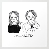 cactei Art Prints featuring Palo Alto by ☿ cactei ☿