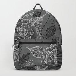 Rose Garden White Backpack
