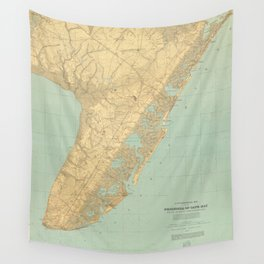 Vintage Map of Cape May NJ (1888) Wall Tapestry