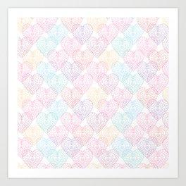 Patterns Of My Heart Art Print