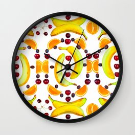 Pattern of fruit Wall Clock
