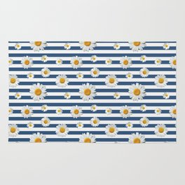 Spring Bloom | Navy Ribbon Rug
