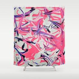 Pink & Purple Paint Drools Shower Curtain