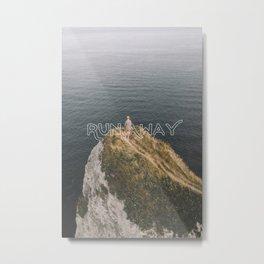 Run Away - Typography on Photography Print Metal Print