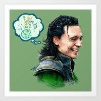 loki Art Prints featuring Loki by James Bousema