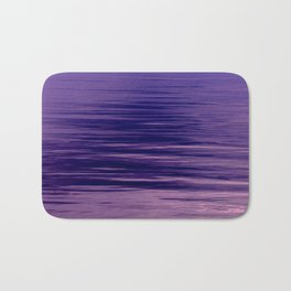 Movement of Water on a Calm Evening- Violet Abstraction Bath Mat