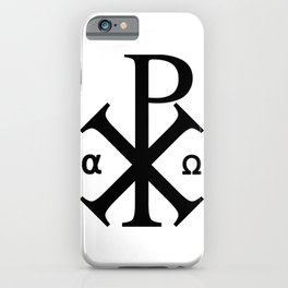 Chi Rho Christian Symbol iPhone Case