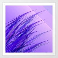 lilac grass Art Print