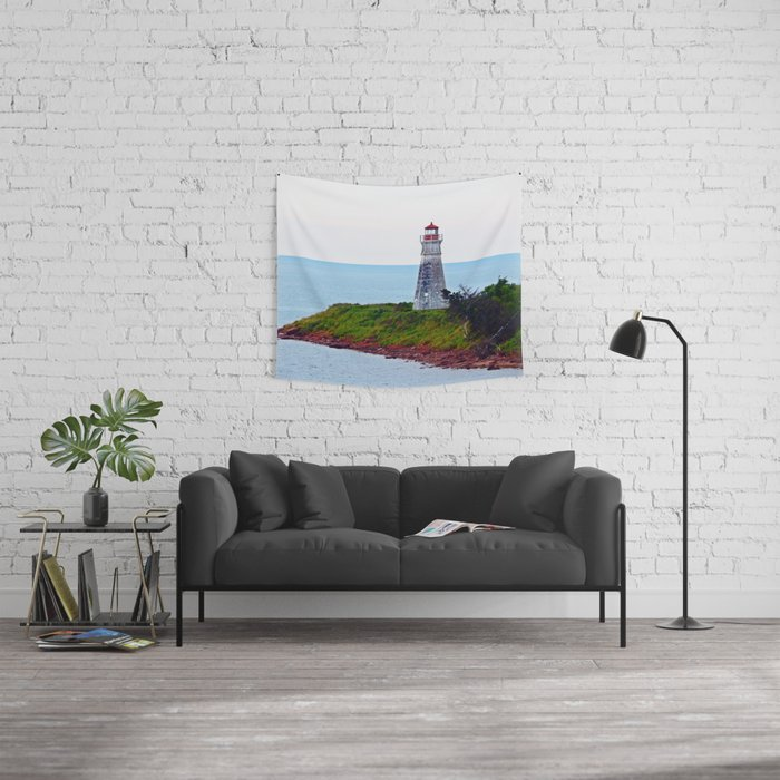Lighthouse Cape Jourimain N-B Wall Tapestry