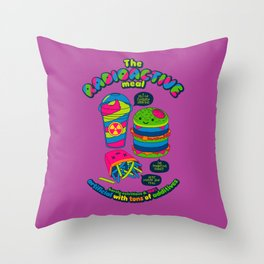 The Radioactive Meal Throw Pillow