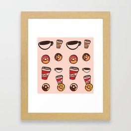 coffee&donuts Framed Art Print