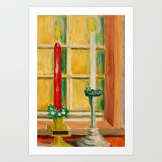 Candles painting Art Print