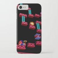 donkey kong iPhone & iPod Cases featuring Inside Donkey Kong stage 3 by Metin Seven