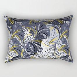 Big grey flowers, petals, leaves Rectangular Pillow