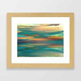 Landscape reflection Framed Art Print
