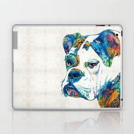 Colorful English Bulldog Art By Sharon Cummings Laptop & iPad Skin