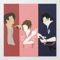samurai champloo Canvas Prints featuring Samurai Champloo Silhouettes by SenilChris