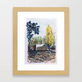Wondalga Shed Framed Art Print