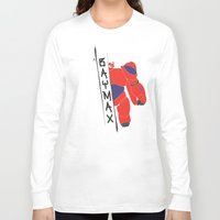 baymax Long Sleeve T-shirts featuring BAYMAX by Sarah Anne Cimaglio